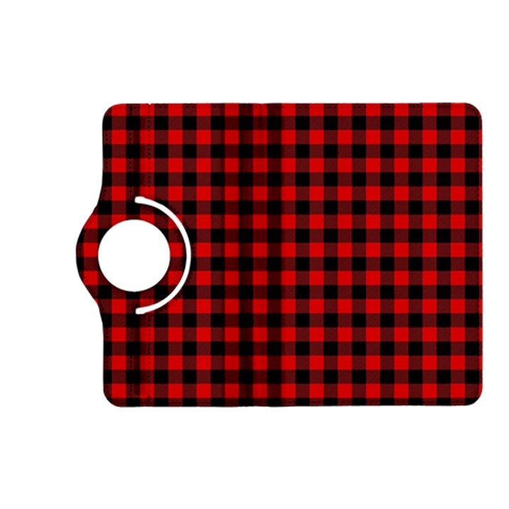 Lumberjack Plaid Fabric Pattern Red Black Kindle Fire HD (2013) Flip 360 Case