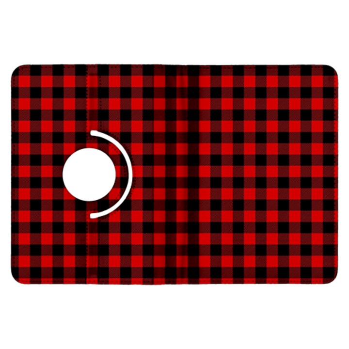 Lumberjack Plaid Fabric Pattern Red Black Kindle Fire HDX Flip 360 Case