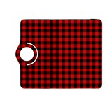 Lumberjack Plaid Fabric Pattern Red Black Kindle Fire HDX 8.9  Flip 360 Case Front