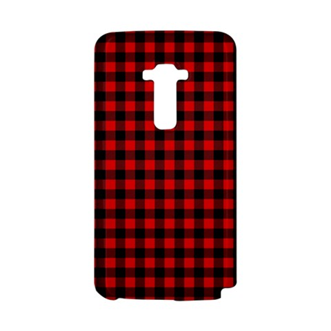 Lumberjack Plaid Fabric Pattern Red Black LG G Flex