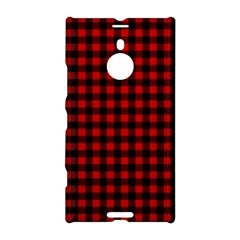 Lumberjack Plaid Fabric Pattern Red Black Nokia Lumia 1520