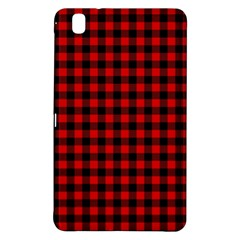 Lumberjack Plaid Fabric Pattern Red Black Samsung Galaxy Tab Pro 8.4 Hardshell Case