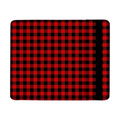 Lumberjack Plaid Fabric Pattern Red Black Samsung Galaxy Tab Pro 8.4  Flip Case