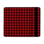 Lumberjack Plaid Fabric Pattern Red Black Samsung Galaxy Tab Pro 8.4  Flip Case Front