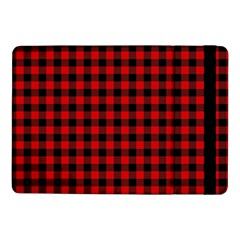 Lumberjack Plaid Fabric Pattern Red Black Samsung Galaxy Tab Pro 10 1  Flip Case