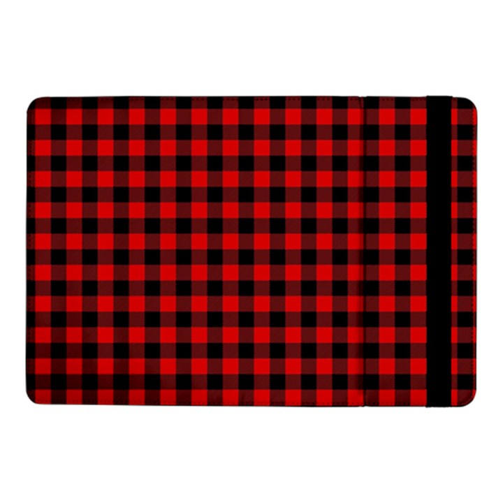 Lumberjack Plaid Fabric Pattern Red Black Samsung Galaxy Tab Pro 10.1  Flip Case