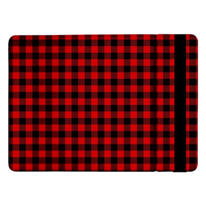 Lumberjack Plaid Fabric Pattern Red Black Samsung Galaxy Tab Pro 12.2  Flip Case