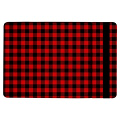 Lumberjack Plaid Fabric Pattern Red Black iPad Air Flip
