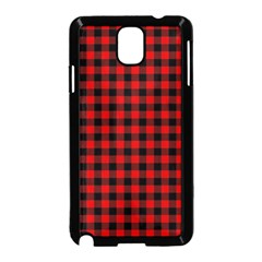 Lumberjack Plaid Fabric Pattern Red Black Samsung Galaxy Note 3 Neo Hardshell Case (black)
