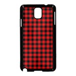 Lumberjack Plaid Fabric Pattern Red Black Samsung Galaxy Note 3 Neo Hardshell Case (Black) Front