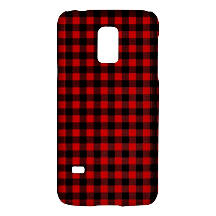 Lumberjack Plaid Fabric Pattern Red Black Galaxy S5 Mini