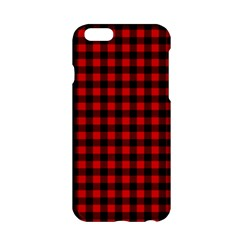 Lumberjack Plaid Fabric Pattern Red Black Apple iPhone 6/6S Hardshell Case