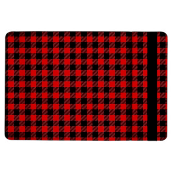 Lumberjack Plaid Fabric Pattern Red Black iPad Air 2 Flip