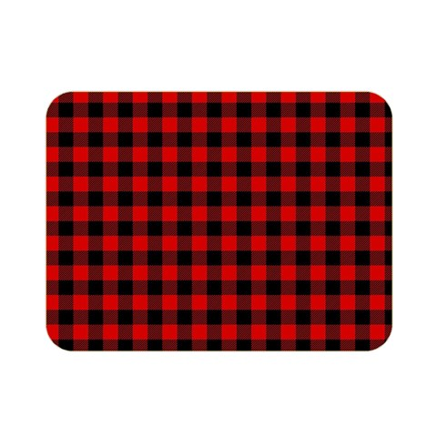 Lumberjack Plaid Fabric Pattern Red Black Double Sided Flano Blanket (Mini)