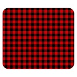 Lumberjack Plaid Fabric Pattern Red Black Double Sided Flano Blanket (Small)  50 x40 Blanket Back