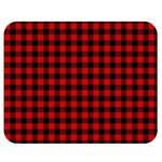 Lumberjack Plaid Fabric Pattern Red Black Double Sided Flano Blanket (Medium)  60 x50 Blanket Back