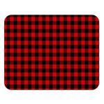 Lumberjack Plaid Fabric Pattern Red Black Double Sided Flano Blanket (Large)   Blanket Back