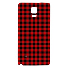 Lumberjack Plaid Fabric Pattern Red Black Galaxy Note 4 Back Case