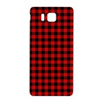 Lumberjack Plaid Fabric Pattern Red Black Samsung Galaxy Alpha Hardshell Back Case Front