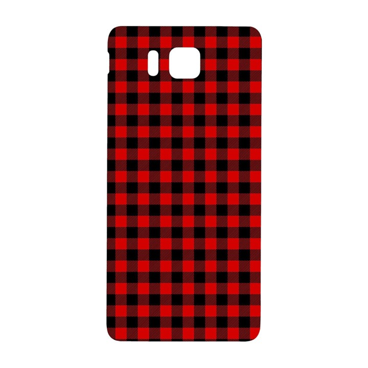 Lumberjack Plaid Fabric Pattern Red Black Samsung Galaxy Alpha Hardshell Back Case