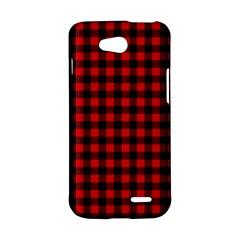 Lumberjack Plaid Fabric Pattern Red Black LG L90 D410