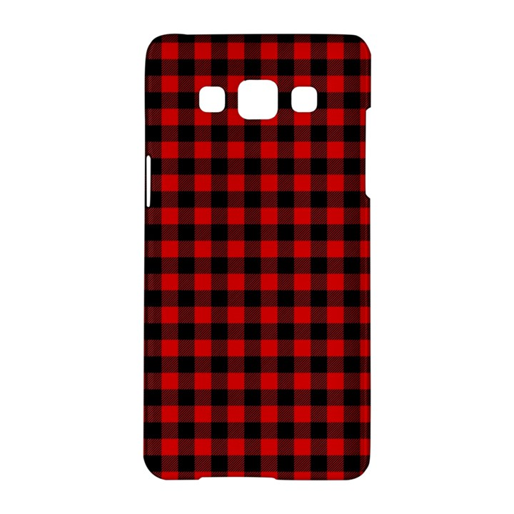 Lumberjack Plaid Fabric Pattern Red Black Samsung Galaxy A5 Hardshell Case