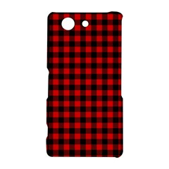 Lumberjack Plaid Fabric Pattern Red Black Sony Xperia Z3 Compact