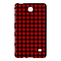 Lumberjack Plaid Fabric Pattern Red Black Samsung Galaxy Tab 4 (7 ) Hardshell Case