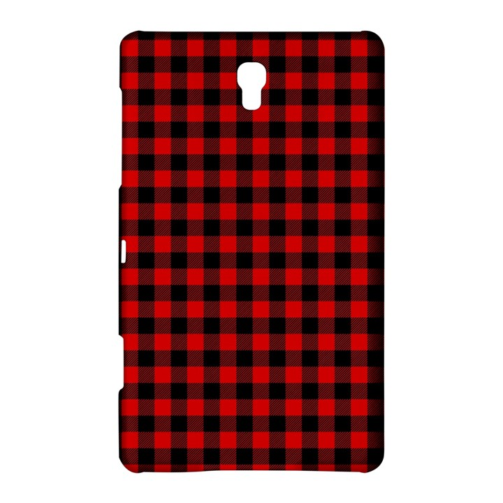 Lumberjack Plaid Fabric Pattern Red Black Samsung Galaxy Tab S (8.4 ) Hardshell Case