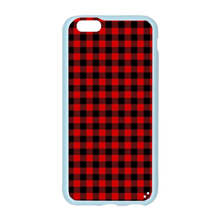 Lumberjack Plaid Fabric Pattern Red Black Apple Seamless iPhone 6/6S Case (Color)