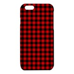 Lumberjack Plaid Fabric Pattern Red Black iPhone 6/6S TPU Case Front