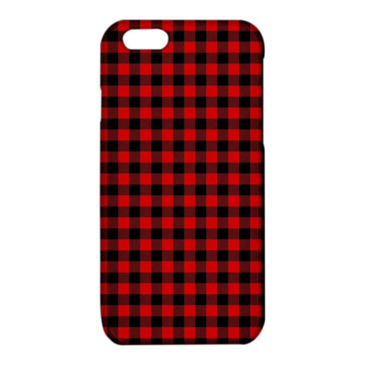 Lumberjack Plaid Fabric Pattern Red Black iPhone 6/6S TPU Case