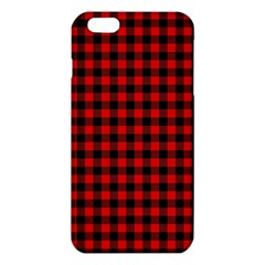 Lumberjack Plaid Fabric Pattern Red Black iPhone 6 Plus/6S Plus TPU Case