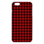 Lumberjack Plaid Fabric Pattern Red Black iPhone 6 Plus/6S Plus TPU Case Front