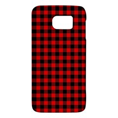 Lumberjack Plaid Fabric Pattern Red Black Galaxy S6
