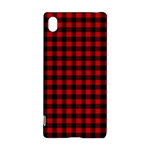 Lumberjack Plaid Fabric Pattern Red Black Sony Xperia Z3+