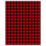 Lumberjack Plaid Fabric Pattern Red Black Drawstring Bag (Small) Back
