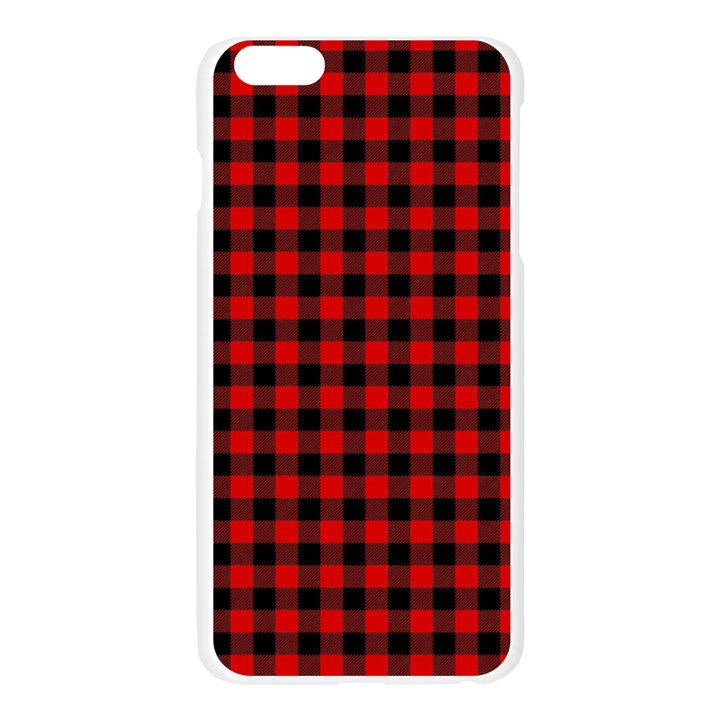 Lumberjack Plaid Fabric Pattern Red Black Apple Seamless iPhone 6 Plus/6S Plus Case (Transparent)