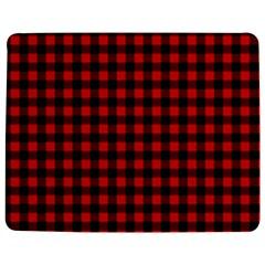 Lumberjack Plaid Fabric Pattern Red Black Jigsaw Puzzle Photo Stand (Rectangular)