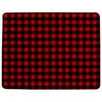 Lumberjack Plaid Fabric Pattern Red Black Jigsaw Puzzle Photo Stand (Rectangular) Front