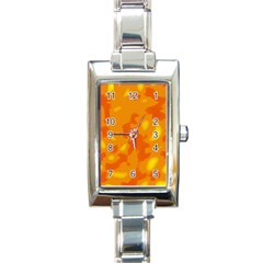 Orange decor Rectangle Italian Charm Watch