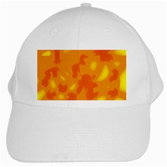 Orange Decor White Cap