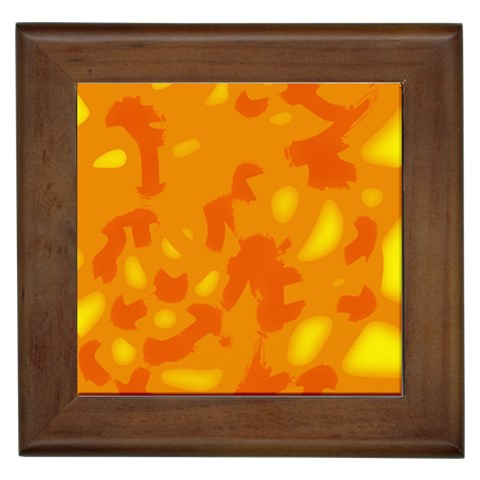Orange decor Framed Tiles