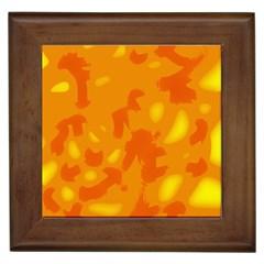 Orange Decor Framed Tiles