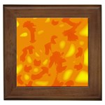 Orange decor Framed Tiles Front