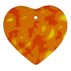 Orange Decor Ornament (heart)