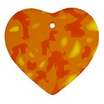 Orange decor Ornament (Heart)  Front
