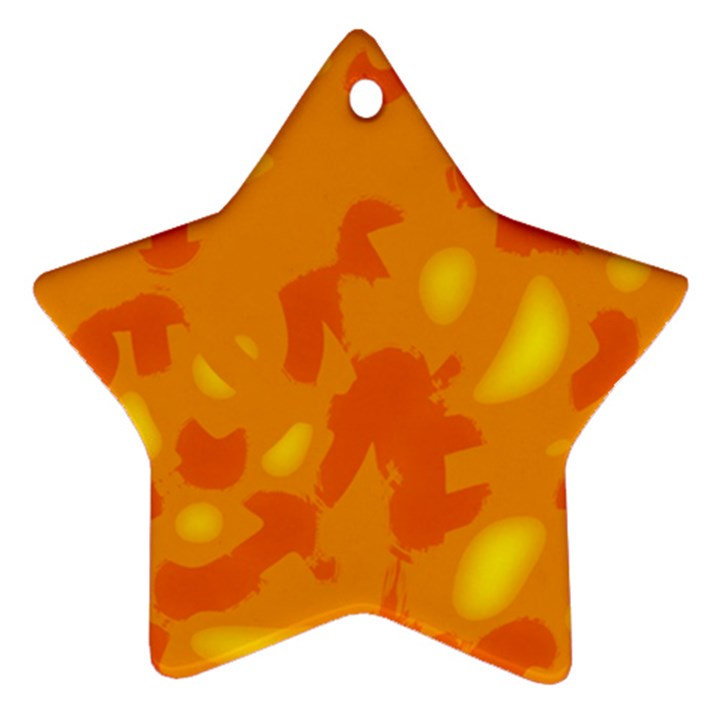 Orange decor Ornament (Star)