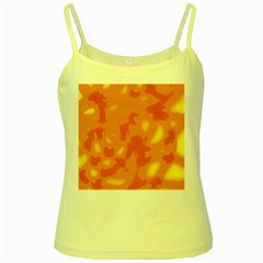Orange Decor Yellow Spaghetti Tank