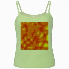 Orange decor Green Spaghetti Tank
